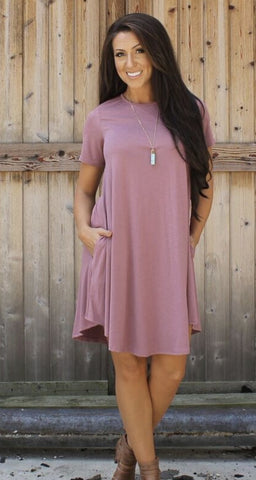 Addictive Dress-Mauve