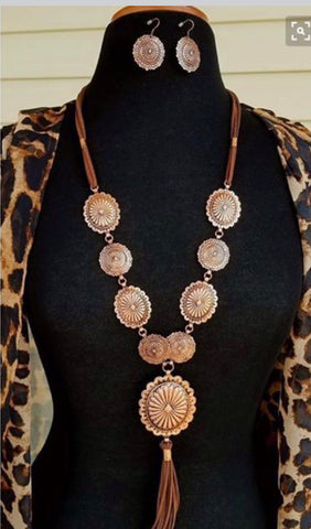 Concho Necklace & Earring Set