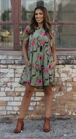 Addictive Dress-Remember Me Olive