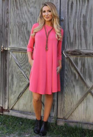 Addictive Dress-Coral