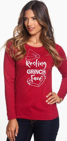 Resting Grinch Face Top