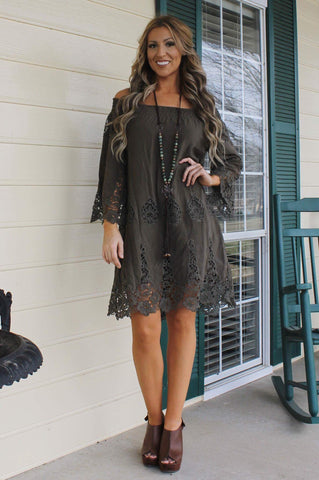 Is it Love Tunic-Olive