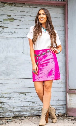 Party in Pink Skirt