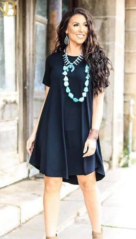 Addictive Dress-Black-short sleeve
