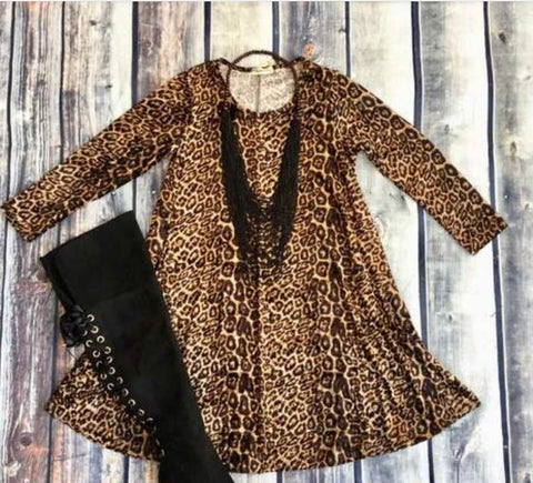 Crushing on Leopard Velvet Dress