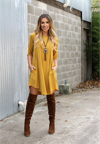 Addictive Dress-Mustard