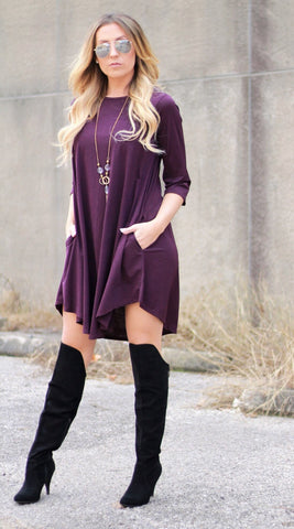 Addictive Dress-plum