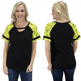 Softball Keyhole Top