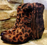 Can't Get Enough Leopard Fringe Boots