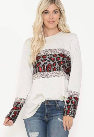 Really Really Red Leopard Top