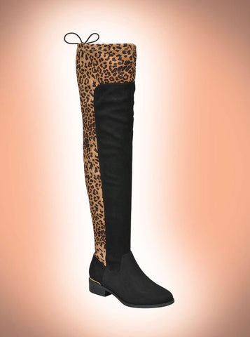 Epic Leopard Over the Knee Boots