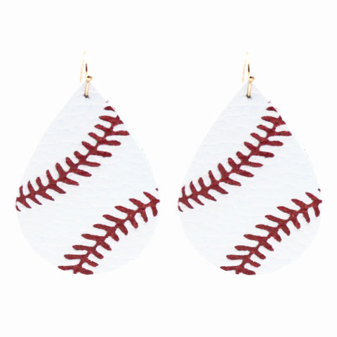 Baseball Leather Earrings