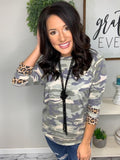 It's a Camo and Leopard Kind of Day Top