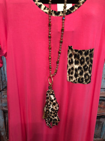 Leopard Love Tassel Necklace