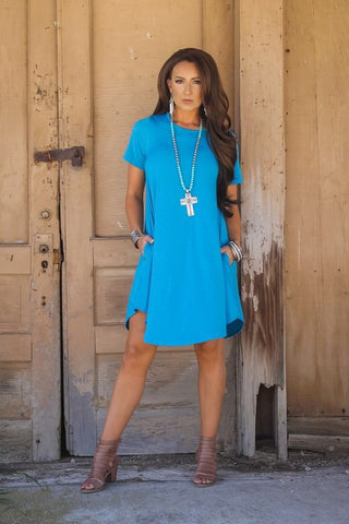 Addictive Dress-Turquoise