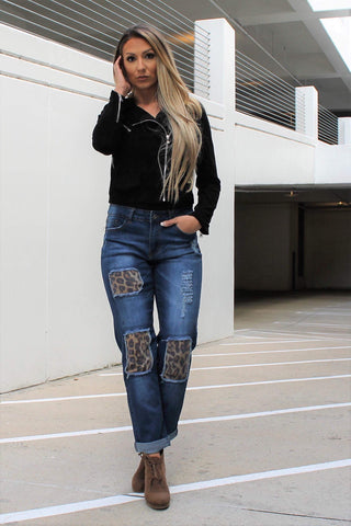 Loving Leopard Times Two Jeans