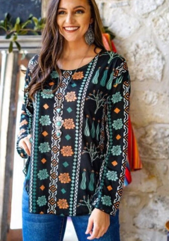 Pick a Pattern Long Sleeve Top