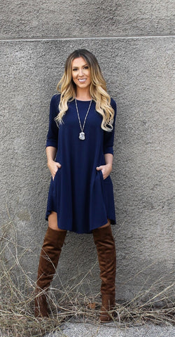 Addictive Dress-Navy