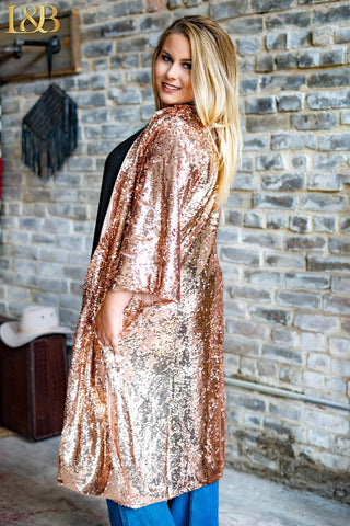 Sassy Sequin Duster