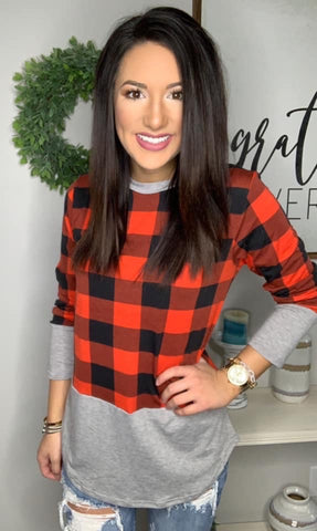 Plaid All Day Top