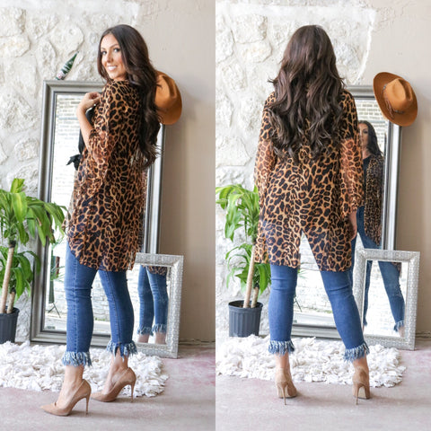 A Lot of Leopard for Me Kimono