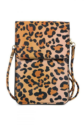 Leopard Cellphone Crossbody Bag