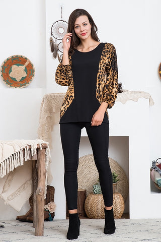 Bases Loaded Leopard Top