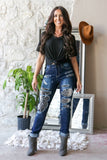 Snakeskin Patch Jeans