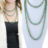 60 Inch Crystal Beaded Necklace