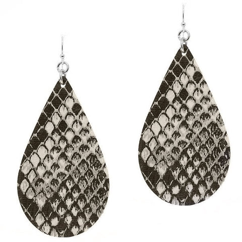 Snakeskin Leather Earrings