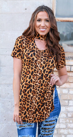 Can't Be Tamed Leopard Top
