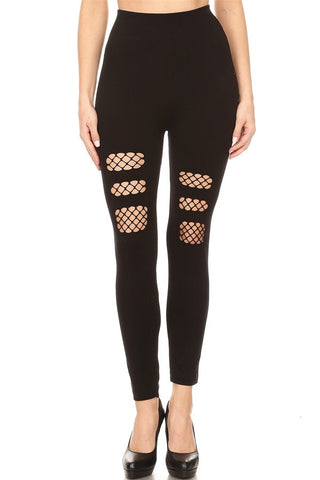 Black cutout leggings