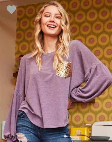 Lavender and Sequins Top