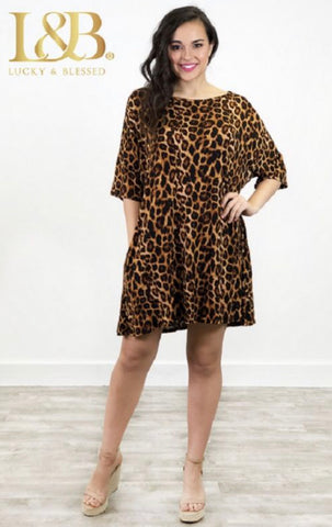 Tally Me Up Tunic-Leopard