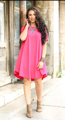 Addictive Dress-Hot Pink
