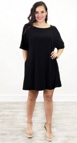 Tally Me Up Tunic-Black