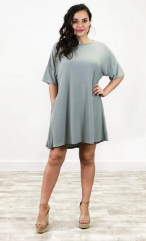 Tall Me Up Tunic-Sage