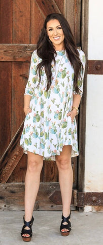 Addictive Dress-Spring Cactus
