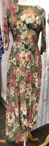 Flowing in Flowers Maxi Dress
