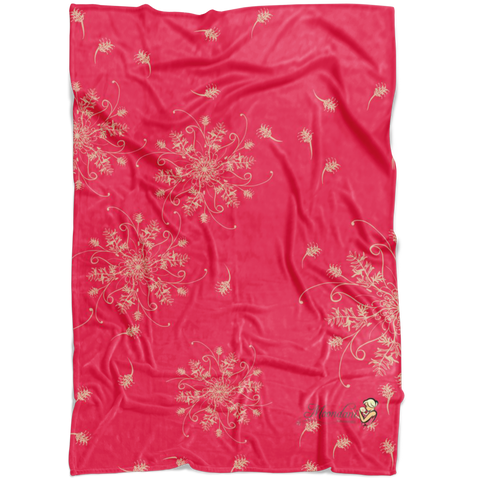 Fleece Blanket -Pink Grevillea