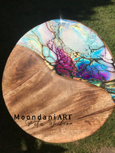 Load image into Gallery viewer, Moondani Art Rustic round serving board