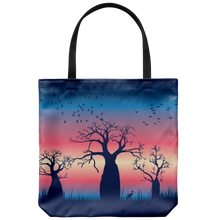 Load image into Gallery viewer, JImulu sunset design tote