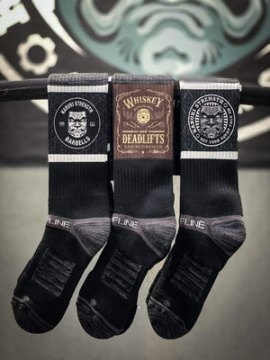 Official Whiskey & Deadlifts Socks - Kabuki Strength Store