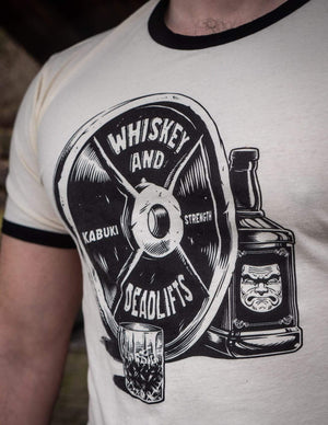 Whiskey & Deadlifts Tee - Kabuki Strength Store
