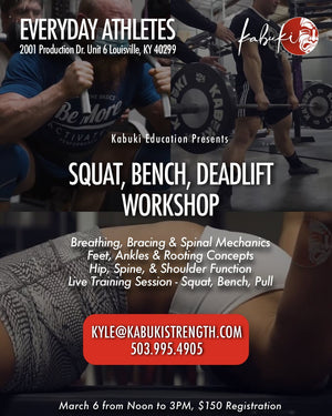 Squat Bench Deadlift Workshop Kentucky | March 6