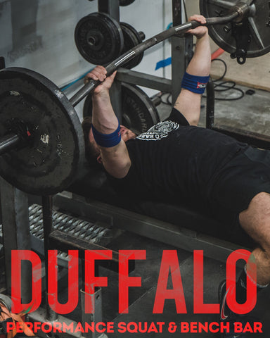 Duffalo Performance Squat & Bench Bar - Kabuki Strength Store