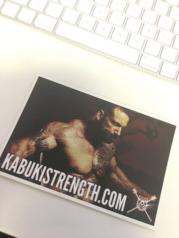 Signed Card by Chris Duffin - Kabuki Strength Store