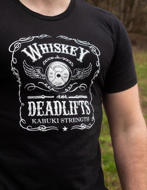 Classic Whiskey & Deadlift Tee - Kabuki Strength Store