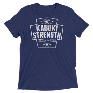 USA Steelworker T-Shirt {White Design] - Kabuki Strength Store