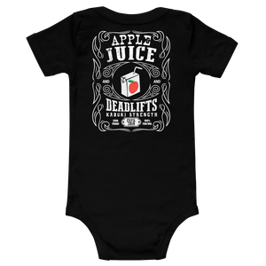 Apple Juice and Deadlifts Onesie - Kabuki Strength Store